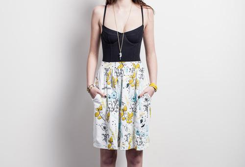 'Desert Floral' Pocket Skirt
