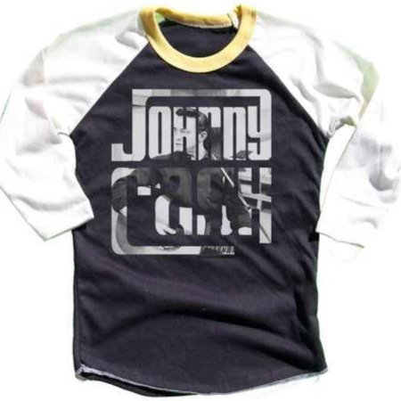 Johnny Cash Raglan by Rowdy Sprout