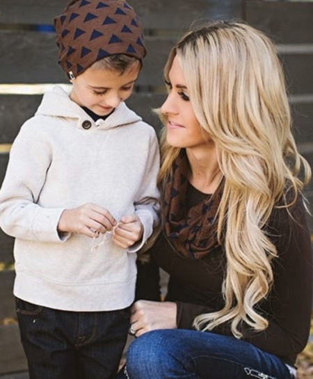 Beanie + Scarf for mommy and her little man by Lemons & Lace