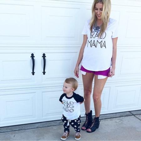 Rad Mama + Rad Big Bro tees from Sandi Lake Clothing