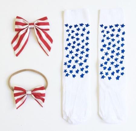 Stars + Stripes collab by Free Babes + Half Pint Kids