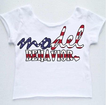 'Model Behavior-Patriotic Tee' by Pomp Kids