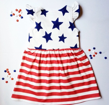 Star Spangled Dress by Little Bow and Arrow